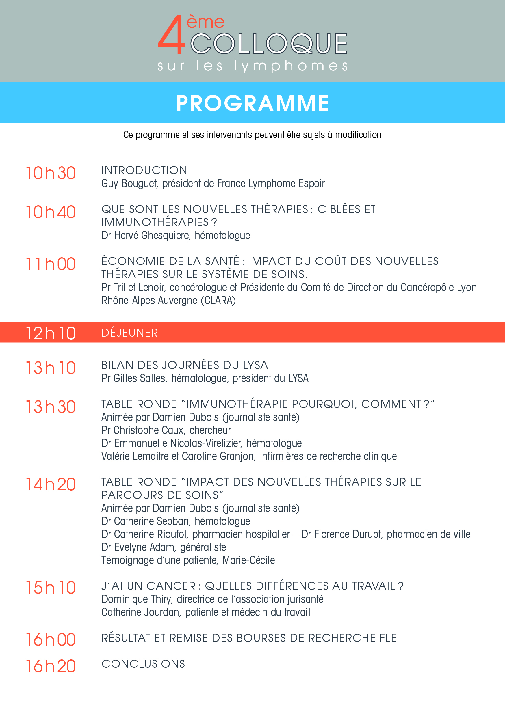 Programme Colloque 2016