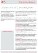 Fiches Information patient SFH : Le lymphome de la zone marginale